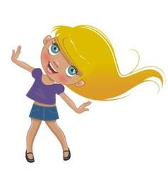 Funny cartoon girl vector image vector image