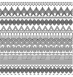 geometric abstract ethnic oriental seamless vector image