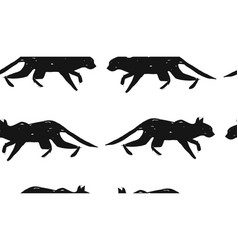 hand made scandinavian nordic black and white vector image vector image