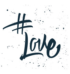 Hashtag love print for t-shirt vector