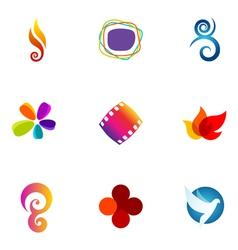 Logo design elements set 24 vector