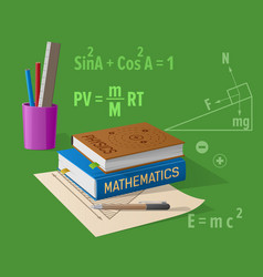 physics mathematics classes cartoon vector image