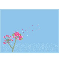 pink blossom vector image vector image