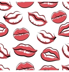 Pop art mouth on white background vector image vector image