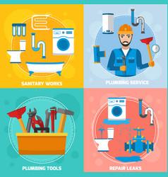 Sanitary technician design concept vector
