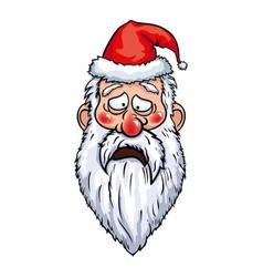 Santa Claus Sad Head vector image vector image