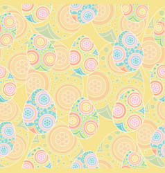 seamless pattern of colorful eggs vector image vector image