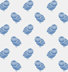 Seamless pattern with silhouettes cute owls vector image vector image