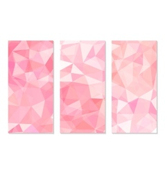 Set of Abstract Geometric Polygonal Backgrounds vector image vector image