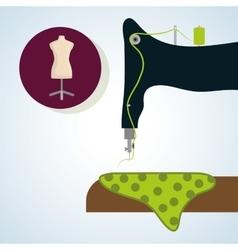 Sewing designtextile icon tailor shop concept vector