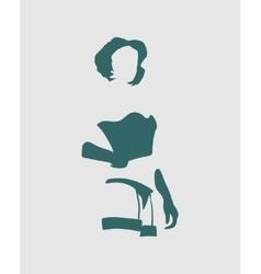 Sexy woman silhouettes underwear fashion vector image