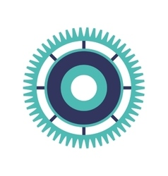 silhouette gear wheel with crown vector image