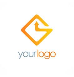 square arrow logo vector image