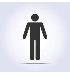 Standing human icon vector image vector image
