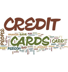 The bad credit card that may do good text vector