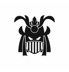 Tribal helmet icon simple style vector
