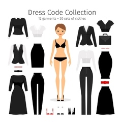 Women dress code set vector image