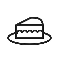 Slice of cake vector