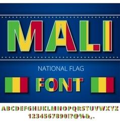 Mali flag font vector
