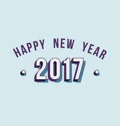 Happy new year 2017 varsity style retro typography vector