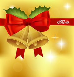 Christmas red ribbon background vector image
