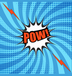 comic pow wording template vector image