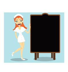 Nurse and blackboard vector