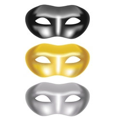 Set of masks on a white background vector