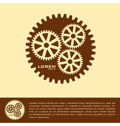 Cogwheel logo design template vector
