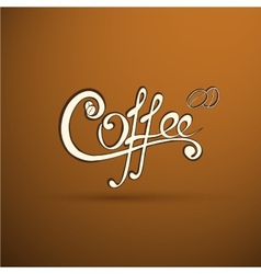 Coffee label with calligraphy for your logo vector
