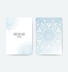 Greeting card ornamental set vector