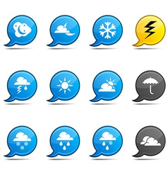 Weather comics vector