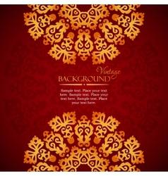 Elegant mandala indian invitation template vector