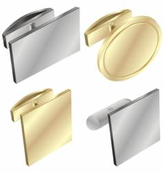 Cuff links vector