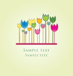 Abstract floral card with copy space vector image