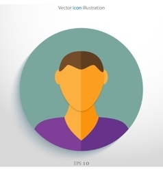 Flat avatar icon vector