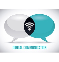 Digital communication design vector