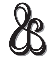 Ampersand symbol vector image