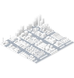 Large modern city vector