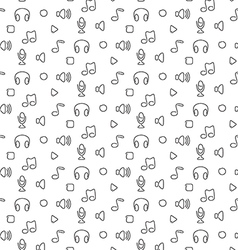 Music audio sound seamless pattern vector