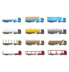 cargo trucks 02 vector image