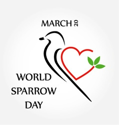 World sparrow day- march 20 vector