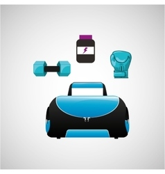 Fitness gym design vector