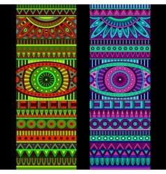 Abstract tribal ethnic background set vector