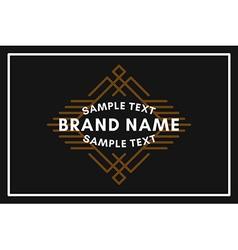 Art Decorative Geometric Old Fashioned Logo Label vector image