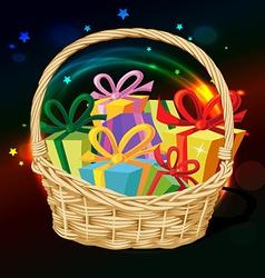 Basket full of gift - vector