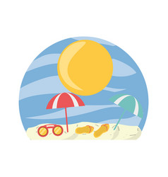 Beach and summer vector