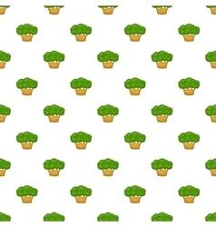 Big tree pattern cartoon style vector