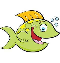 Cartoon of a smiling fish vector