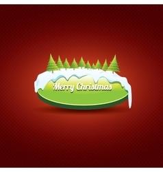 Christmas green button with christmas tree vector